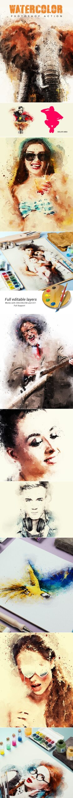 دانلود Watercolor – Photoshop Action